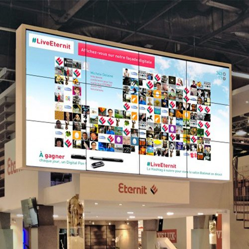 Social wall et info manager - Solutions digitales - Keemia Strasbourg Agence marketing local en région Grand-Est