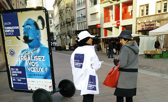 CCI Campus Alsace street marketing affichage mobile Keemia Strasbourg Agence marketing local en région Grand-Est