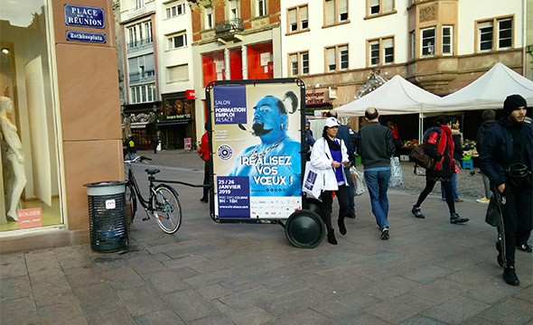 CCI Campus Alsace street marketing affichage mobile Keemia Strasbourg Agence marketing local en région Grand Est