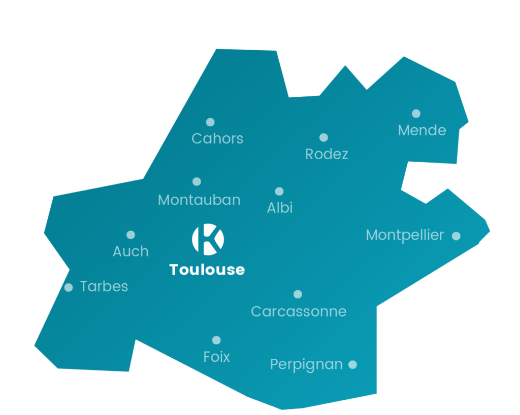Carte Keemia Toulouse en Occitanie et Auvergne - Keemia Toulouse Agence de marketing local en Occitanie
