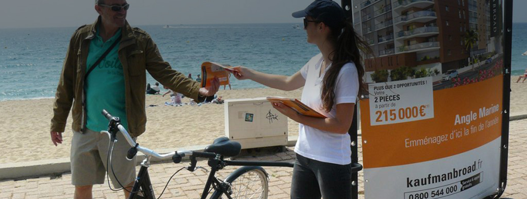 Kaufman ans Broad bike com street marketing Keemia Toulouse agence marketing local en region occitanie