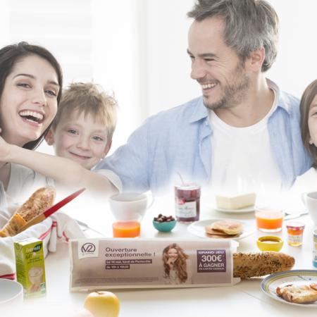visibilité sac à pain publicitaire - Keemia Toulouse agence marketing locale en région Occitanie