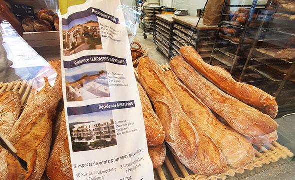 Affi'pain Icade sac à pain publicitaire - Keemia Toulouse agence de Marketing locale en région Occitanie