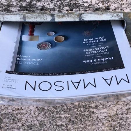 Dépot boîtes aux lettres magazine Ma maison - Keemia Toulouse agence locale de la région Occitanie