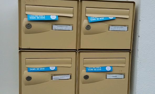 Dépôts en boites aux lettres pour l'EFS avec Keemia Toulouse agence marketing de référence locale en région Occitanie