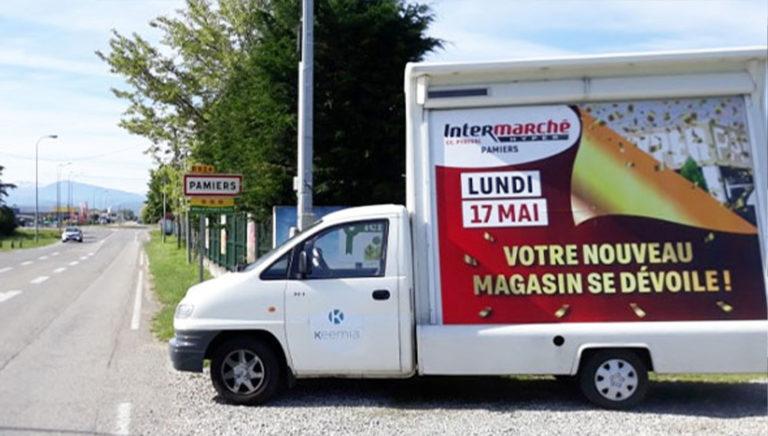 Opération d'affichage mobile - Keemia Toulouse agence marketing locale en région Occitanie
