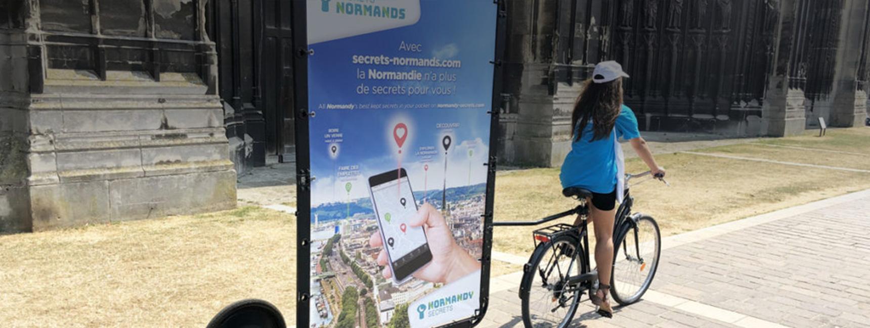 CRT Normandie street marketing affichage mobile Keemia Tours Agence marketing local en région Centre Normandie