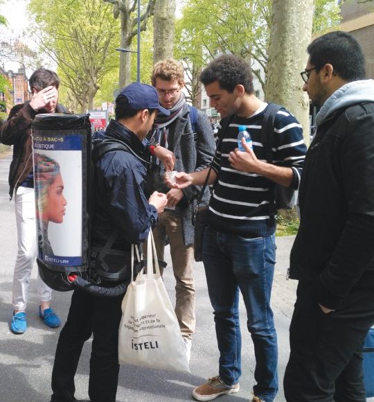Campus - Street marketing - Keemia Tours Agence marketing local en région Centre Normandie