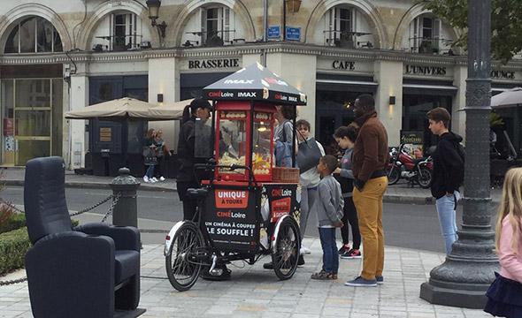 Cinéloire animation street marketing Keemia Tours Agence marketing local en région Centre Normandie