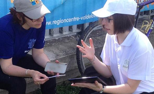Géovélo affichage mobile street marketing Keemia Tours Agence marketing local en région Centre Normandie