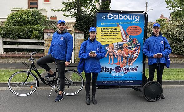 Playmobil affichage mobile street marketing Keemia Tours Agence marketing local en region Centre Normandie