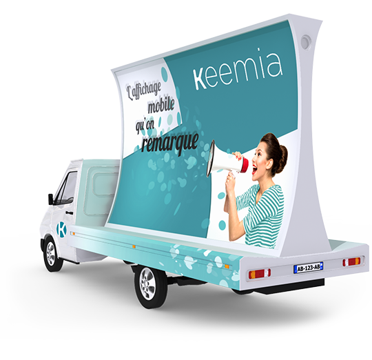 Affichage mobile - Keemia Tours Agence marketing local en région Centre Normandie