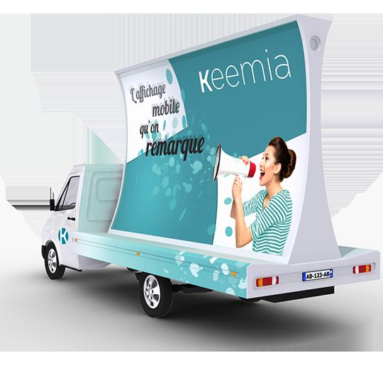 Affichage mobile - Keemia Tours Agence marketing local en région Centre Normandie