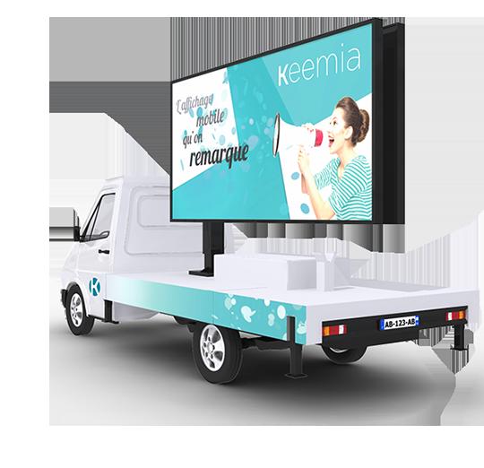 Affi'Led écran géant Affichage mobile - Keemia Tours Agence marketing local en région Centre Normandie