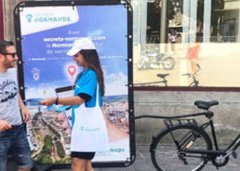 CRT Normandie street marketing affichage mobile Keemia Tours Agence marketing local en région Centre Normandie