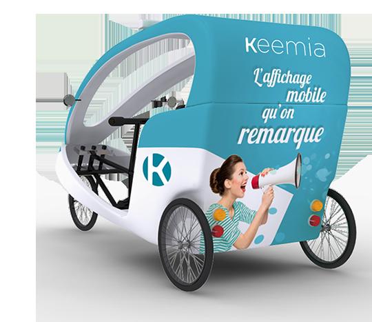 Gumba vélo taxi - Affichage mobile - Keemia Tours Agence marketing local en région Centre Normandie