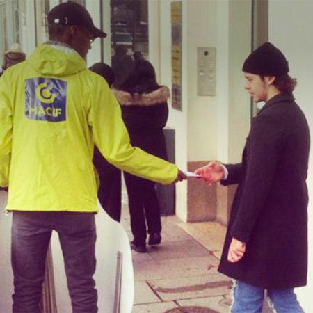 Crèches de France supports tactiques street marketing Keemia Tours Agence marketing local en région Centre Normandie