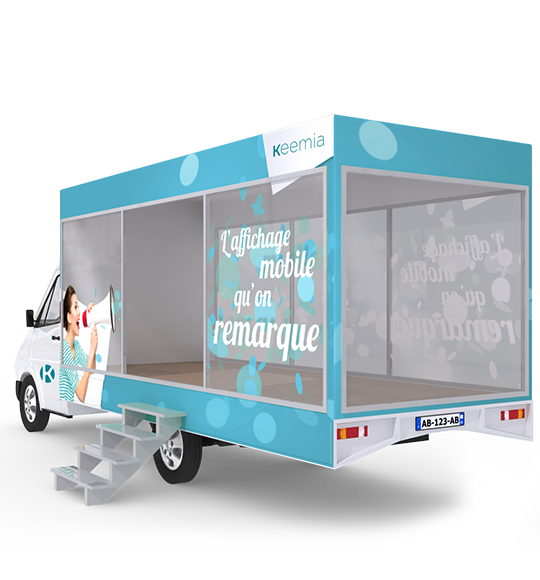 Camion Showroom mobile - Keemia Tours Agence marketing local en région Centre Normandie