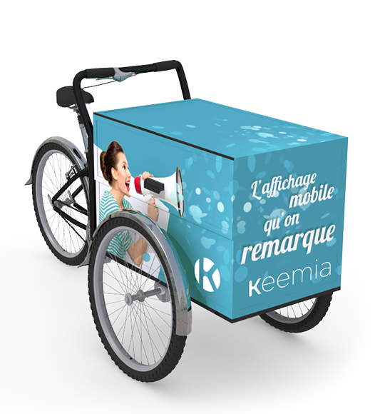 Triporteur - Keemia Tours Agence marketing local en région Centre Normandie