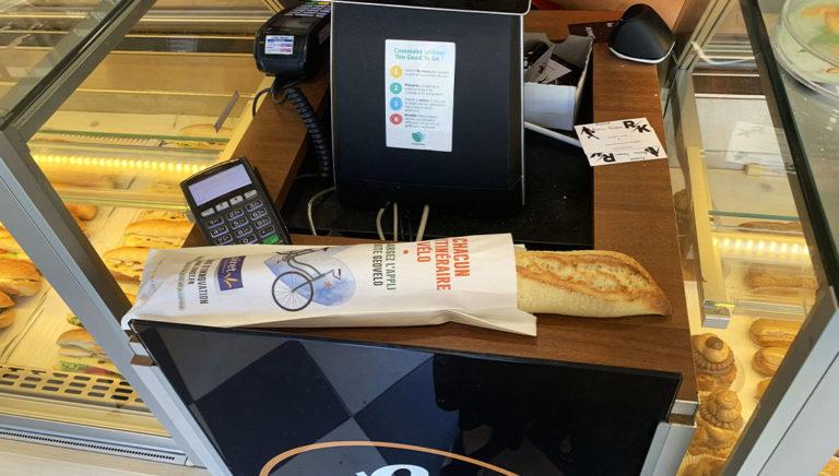 Affi'pain sac à pain publicitaire Conseil départemental du Loiret - Keemia Tours agence de marketing locale en région Centre Normandie