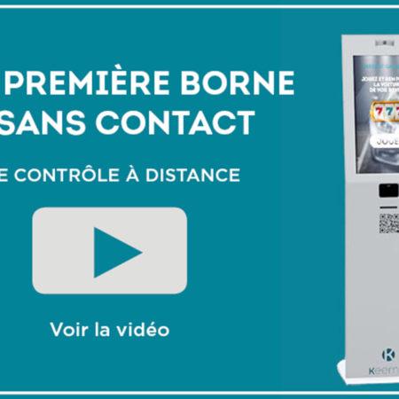 Actualité borne sans contact digital innovation, Keemia Tours agence de marketing locale en région Centre Normandie