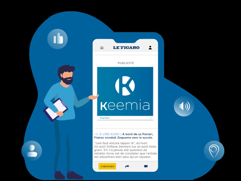 Display Mobile - Keemia Tours - Agence de Marketing Locale en région Centre Normandie