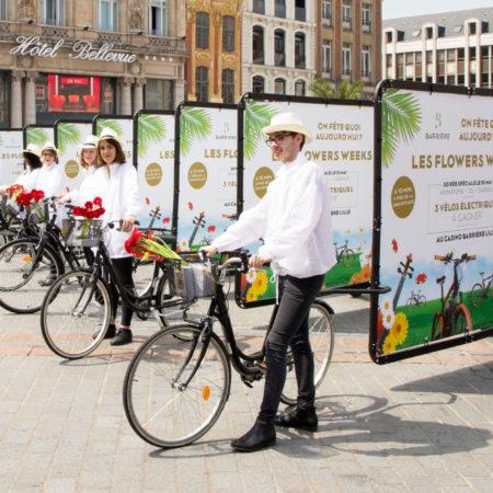 Flowers and Bikes pour le Groupe Barrière - Keemia Agence Hors média, Shopper Marketing, Evénementiel