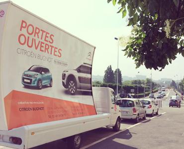 Des camions pub pour Citroën Vignette - Keemia Agence Hors média, Shopper Marketing, Evénementiel