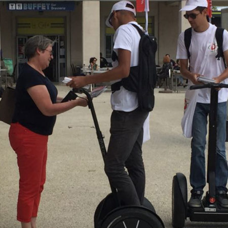 Le Grand Dax distribue en Segway Vignette - Keemia Agence Hors média, Shopper Marketing, Evénementiel