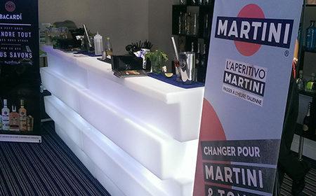 Martini aux distrigrammes - Keemia Agence Hors média, Shopper Marketing, Evénementiel