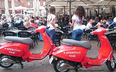 A la découverte de Martini Tonic avec les Vespas Girls ! - Keemia Agence Hors média, Shopper Marketing, Evénementiel