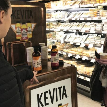 Kevita vous invite à déguster ses produits en magasin - Keemia Agence Hors média, Shopper Marketing, Evénementiel