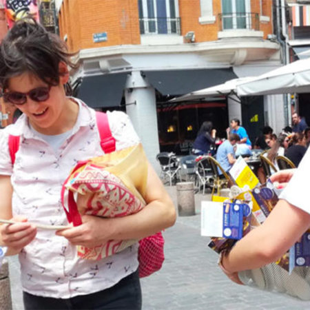 Direction Lyon en triporteur - Keemia Agence Hors média, Shopper Marketing, Evénementiel