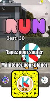 Mini jeux 3D Experience immersive en réalité augmentée Snapchat - Keemia 1er opérateur full marketing