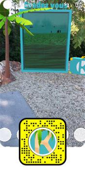 Portail 3D Experience immersive en réalité augmentée Snapchat - Keemia 1er opérateur full marketing